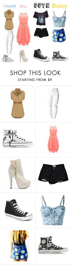 """""""Which one"""" by gracethompson2004 ❤ liked on Polyvore featuring (+) PEOPLE, Converse, Forever New and Boohoo"""