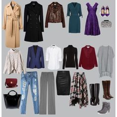 Базовый гардероб на осень и зиму для холодных цветотипов/ Basic ...