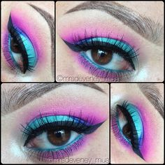 Colorful makeup @ mrsdeveney_mua