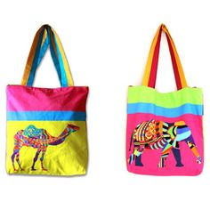 Animal Tote Bag Elephant Camel, $35, now featured on Fab.