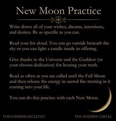 New moon ritual New Moon Rituals, Full Moon Ritual, Full Moon Spells, Midlife Crisis, Wiccan Spells, Magick, Magic Spells, Wiccan Rede, Candle Spells