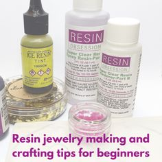 Jewelry Making Supplies resin crafting tips for beginners - Get answers to common beginner questions about resin jewelry making. Includes tips and links to free resources on how to have resin success. Silver Jewelry Box, Amber Jewelry, Crystal Jewelry, Beaded Jewelry, Silver Ring, Silver Earrings, Diy Jewelry, Fancy Jewellery, Resin Jewellery