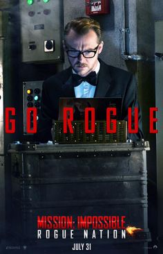 Simon Pegg Rogue Nation poster