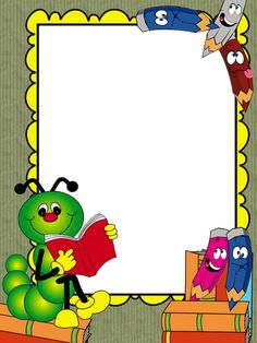 Cute School Border and Frames Frame Border Design, Boarder Designs, Page Borders Design, School Frame, Art School, School Border, Boarders And Frames, Printable Frames, Kids Background