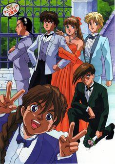 Mobile Suit Gundam Wing: The Gundam Wing boys with Relena Gundam Wing, Duo Maxwell, Science Fiction, Heero Yuy, Star Crossed Myth, How Ya Doin, Hamtaro, Typical Girl, Tokyo Mew Mew