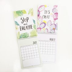 Plan the year ahead with my 2018 Motivational Quote Wall Calendar which has been hand lettered and features beautiful watercolour illustrations on each page. If you need some positive affirmations to get you through 2018, this calendar is perfect as each month features a brand new quote or motivational saying. Details about the calendar: - A5 (148mm x 210mm) double page wall calendar - British bank holidays and special dates are included - Cover is made from 300gsm silk paper...