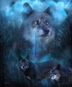 Legend Of The Blue Wolf art by Carol Cavalaris.