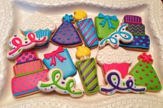 12 Birthday Party Sugar Cookies by BakeMyDayCookies on Etsy, $32.00