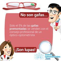 MultiOpticas BORJA: Recuerda que las #gafasdecerca para la #presbicia que se venden fuera de las #ópticas, no son gafas, ¡son lupas!