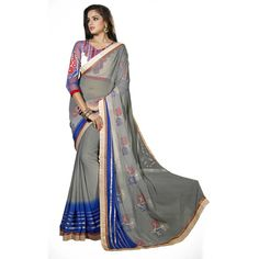 Border Worked #Chiffon #Saree Only At Rs.1,917 #ethnic #traditional