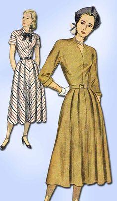 1940s Vintage Simplicity Sewing Pattern 2360 Misses Dress w Kimono Sleeve Sz 12