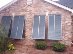 Bahama Shutters block harmful UV radiation and heat gain into home.  They look beautiful while protecting your home.  Call for free estimate, Palmetto Outdoor Spaces.