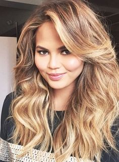 21 Of The Best Balayage Hair Trends of 2017 New Hair Color Trends, Hair Trends, Pretty Hairstyles, Wig Hairstyles, Medium Hairstyles, Wedding Hairstyles, Chrissy Teigen Hair, Christy Teigen, Layered Haircuts
