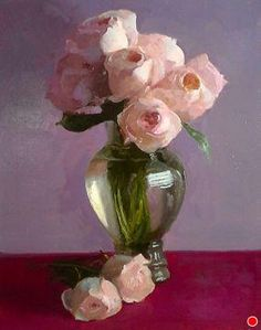 New Juliet ~ Dennis Perrin Oil ~ x ~ has been described as American Impressionist painter Painting Still Life, Still Life Art, Paintings I Love, Beautiful Paintings, Oil Painting Flowers, Painting & Drawing, Still Life Flowers, Arte Floral, Painting Inspiration