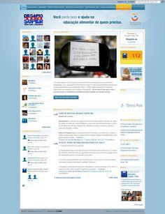 Desafio Super 100 para a Cia Athletica, integração do Ning com Facebook para arrecadar doações. (2010)