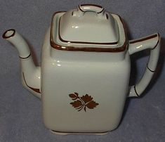 Pottery, Porcelain & Glass Pottery Alfred Meakin Coffee Set Old White Ironstone
