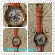 Reloj modelo bicicleta $4.990.-