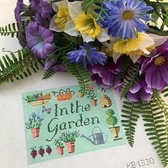 """Kirk & Bradley """"In The Garden"""" Needlepoint Canvas - Bring your garden indoors!"""