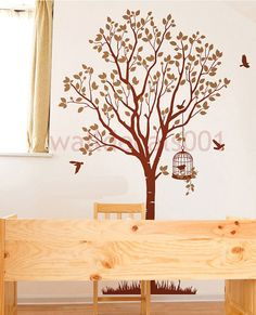 Vinyl  wall decal sticker wall decorlovely tree by walldecals001, $65.00