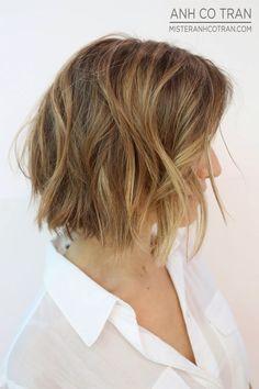 side view of layered short bob haircuts 2016