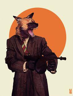 African Wild Dog: anthropomorphic animal illustrations by US-based digital artist Kim Nguyen Furry Art, Arte Furry, Human Personality, African Wild Dog, Wild Dogs, Animal Heads, Art Graphique, Art And Illustration, Animal Illustrations