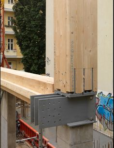 e3 Apartment Building in Berlin - structure detailed view
