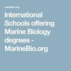 Marine Biology my best college