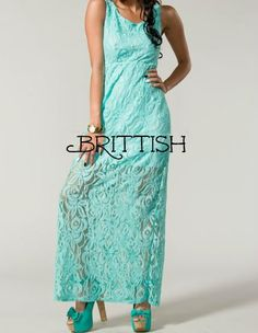 Fairytales Dress in Mint Lace