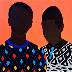 Shakes Tembani: Brothers: fine art | StateoftheART African Paintings, African Art, Puff And Pass, Online Gallery, Paintings For Sale, Canvas Size, Original Artwork, Contemporary Art, Brother
