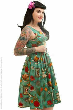 Also loving this dress! It's on the Rockabilly Pin Up website. Such cool stuff!