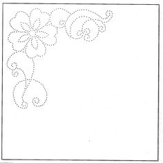 paper embroidery template, flower