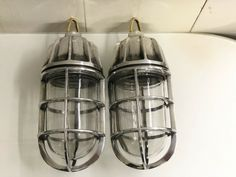 NAUTICAL MARINE SOLID ALUMINIUM HANGING SHIP LIGHT WITH BRASS HOOK LOT OF 2