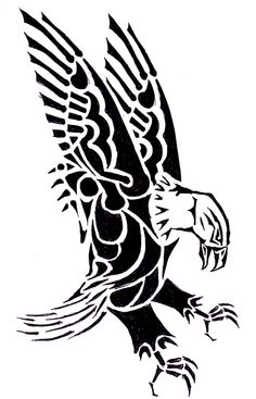 Tribal Eagle Tattoo Designs