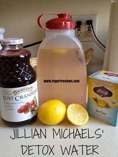 Jillian Michael's detox water - put it in the fridge - great thirst quencher and helps you lose weight.