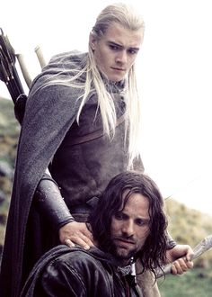 Legolas and Aragorn [Orlando Bloom and Viggo Mortensen] #lotr
