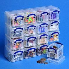 0.14 liter Box sorteerset 16 stuks + inzetbak