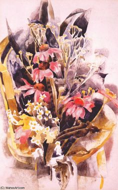 """""""marguerites africaines (1925)"""", 1925 de Charles Demuth (1883-1935, United States) New York Times, Charles Demuth, Museum, Early American, Famous Artists, Impressionism, Flower Art, Creative, Daisy"""