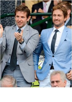 Bradley Cooper and Gerard Butler at Wimbledon 2013