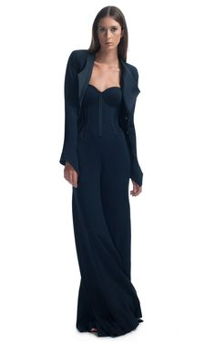 Midnight Structured Jacket by Zac Posen for Preorder on Moda Operandi