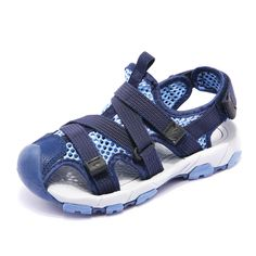 6c03dca6c58f Summer Beach Boys Sandals Children Closed Toe Breathable Fashion Sandals  Girls Sport Non -Slip Sandals