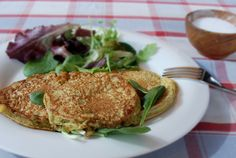 Pancake light alle verdure e scamorza