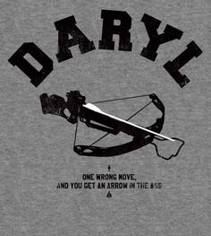 Daryl shirt.. they have carl, the governor, merle, michonne and rick ones too!!