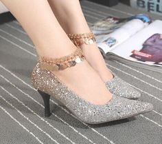 One-pcs Golden Plated Silicone Ankle Chain