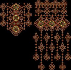 Batik Pattern, Border Pattern, Cross Stitching, Cross Stitch Embroidery, Egypt Jewelry, Cross Stitch Geometric, Dress Design Drawing, Palestinian Embroidery, Embroidery Suits Design