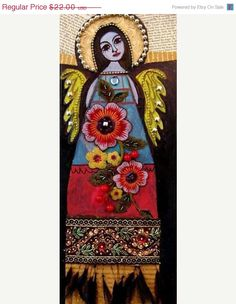 50 off 50 Percent Off Mexican Folk Art door HeatherGallerArt