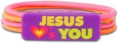 Kerusso Jesus Loves You Christian Stretch Bracelet