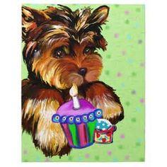 Miniature Yorkshire Terrier Yorkie Birthday Happy Birthday To