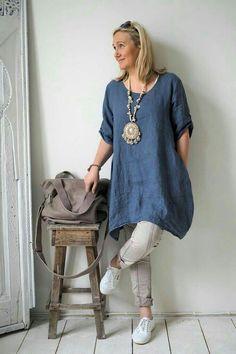Women Summer Style Linen Cotton Casual Plus Size Blouses Tops Women's Summer Fashion, Boho Fashion, Fashion Outfits, Gothic Fashion, Apostolic Fashion, Vetements Clothing, Vestido Casual, Linen Tunic, Estilo Boho