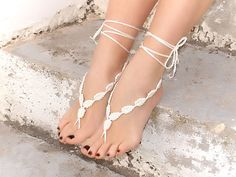 Crochet barefoot sandals by Lasunka