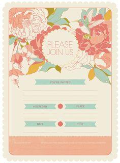 Garden Party Invitation Kit by Teagan White